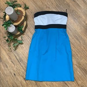 NWT strapless color block dress